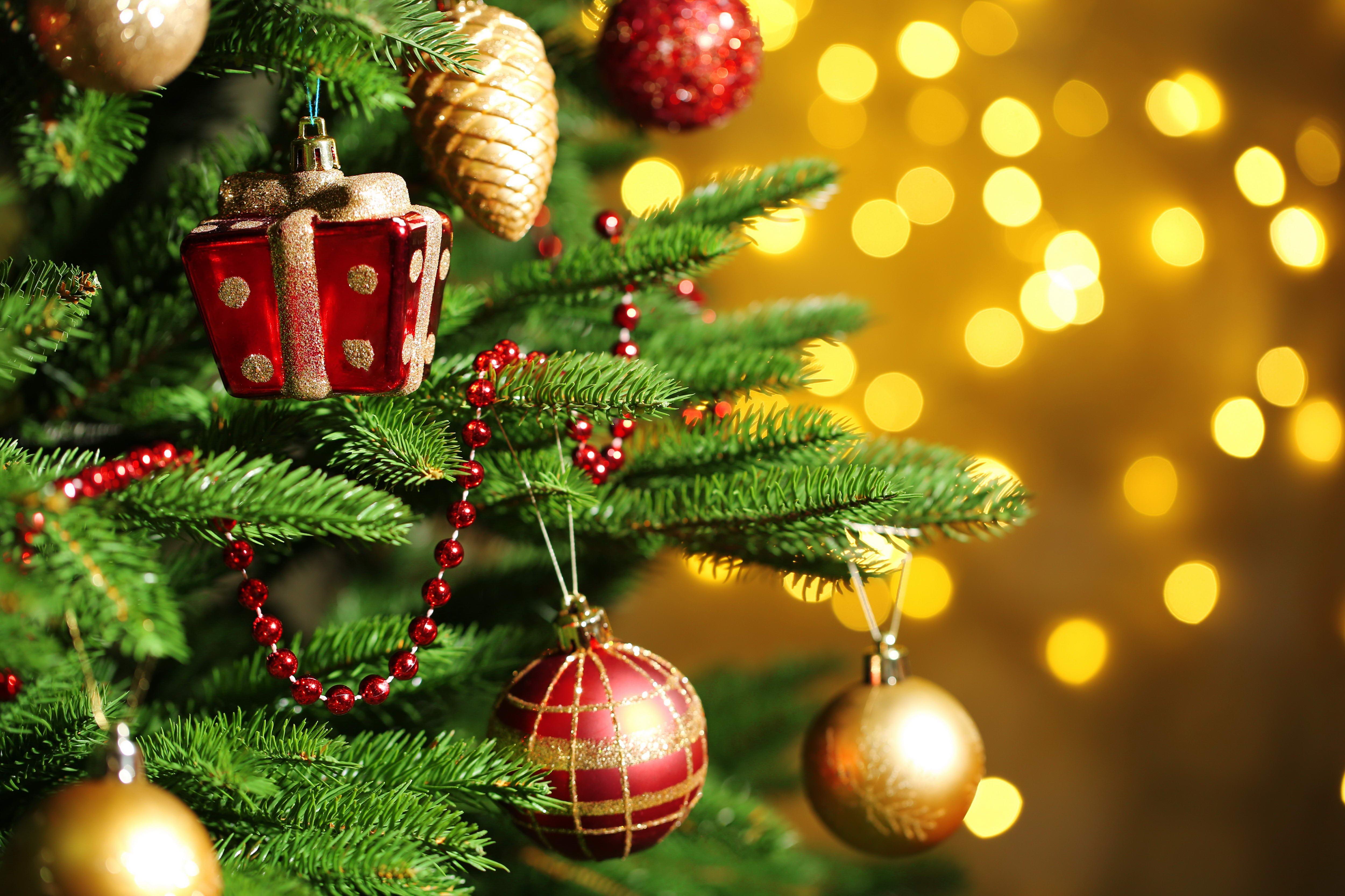 Новогодняя картинка с елкой